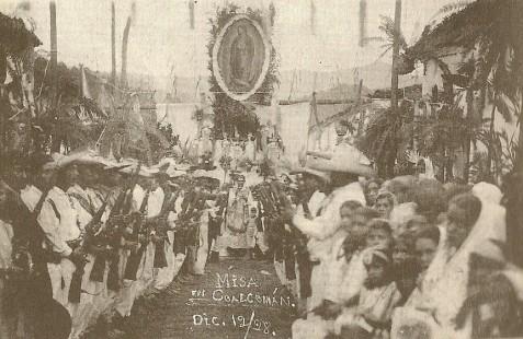 Cristeros en misa de tropa. 12 de diciembre de 1928, Coalcomán, Mich.